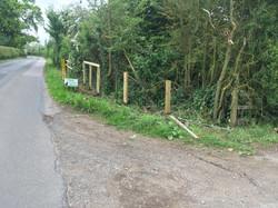 Post and rail roadside