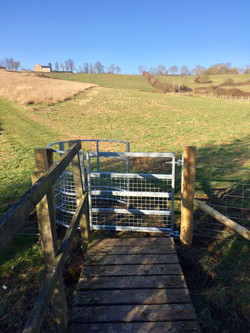 Public footpath gate