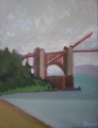 view of bridge, 10:30 am