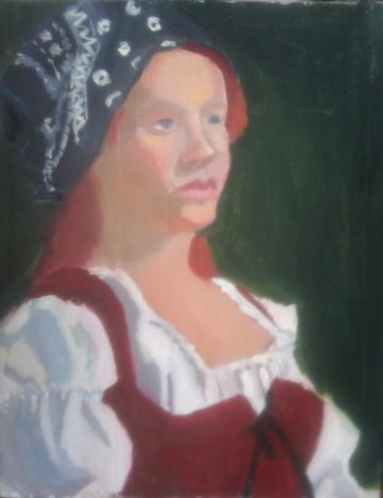 girl with bandana