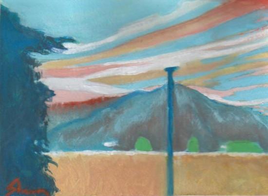 color studies: sunset en color