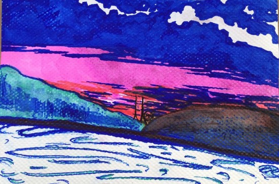sunset in benicia