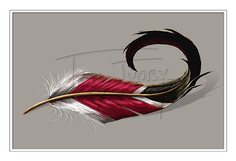 Garnet and Gold Mallard Tail
