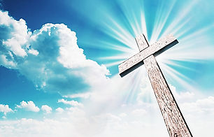 Wood cross on blue sky.jpg Christian bac