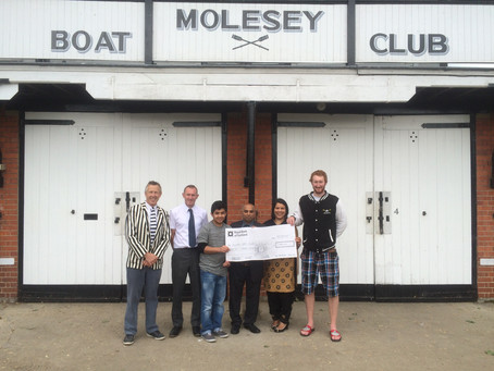 Molesey Rowing Centre receives £1000 from Golden Curry!