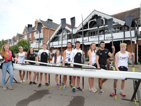 Juniors Row from Henley to Molesey