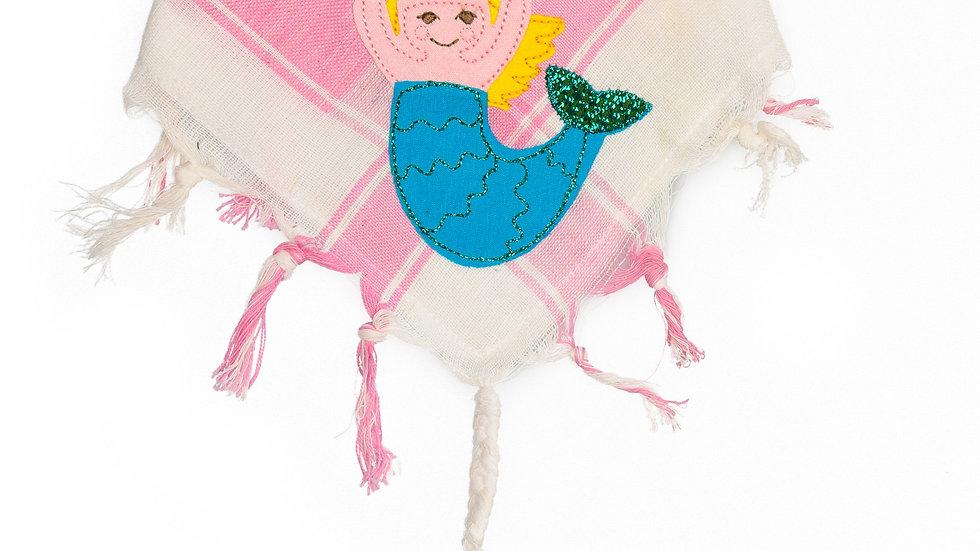 """Babyhalstuch """"Meerjungfrau"""" rosa"""