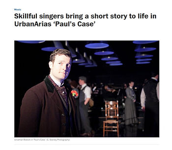 Paul's Case Washington Post