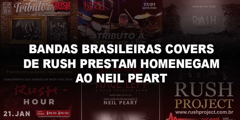 Bandas Tributos Covers Rush Neil Peart
