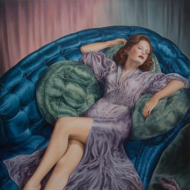 Reclining Redhead (A Dream in Satin)