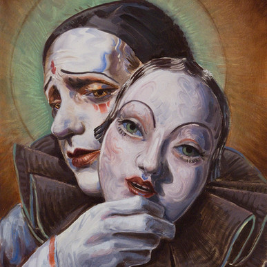 Pierrot with Mask