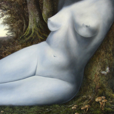 Alabaster Nude in Forest