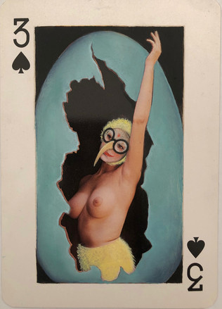 3 of Spades (Easter Chick)