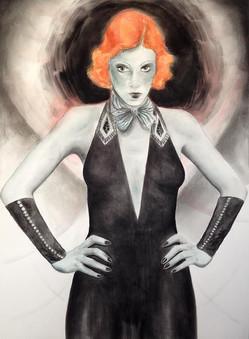 Orange Haired Woman