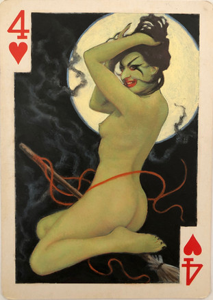 4 of Hearts (Halloween Witch)