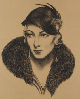 Woman with Fur Collar (Karen Morley)
