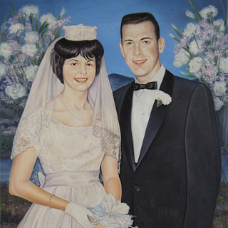 Joan and Arnold on Their Wedding Day