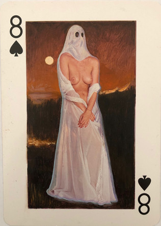 8 of Spades (Halloween Ghost)