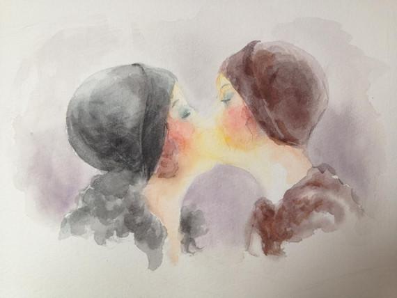 Women Kissing