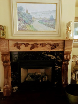 Mantel with hand carved colums Charlie G