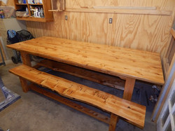 Deador Cedar table and bench 2139