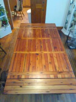 Longleaf pine table leaf added,  Paw Paws Custom Crafts 1