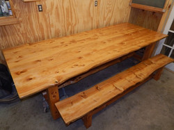Deador Cedar table and bench 2140