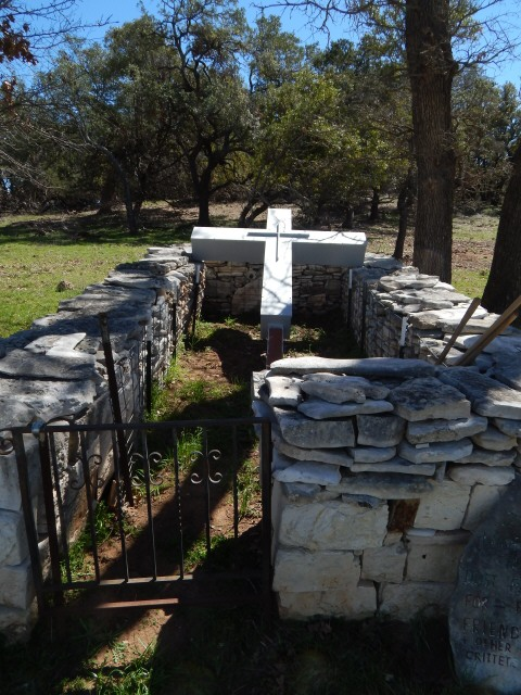 Columbarium with 14 nitches for cremation remains, made by brother Jim 1244