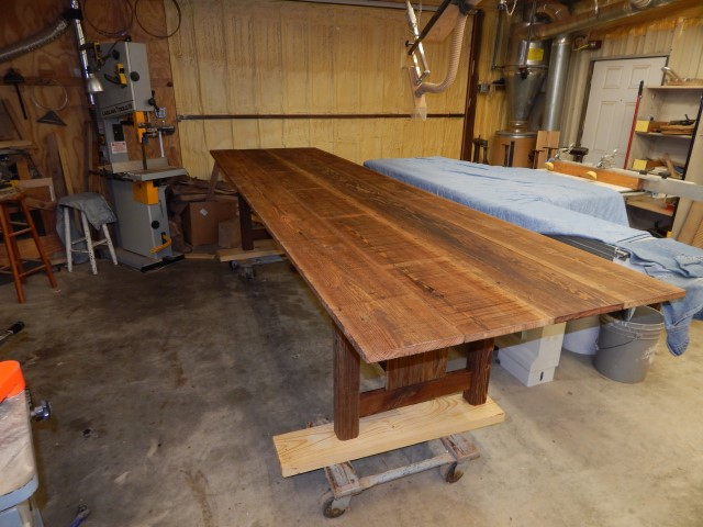 Barnwood Tressel Table 1657