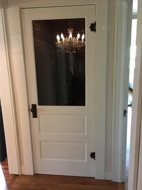 Door remodel from panel to glass