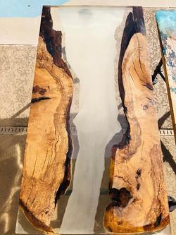 Oak.epoxy table.Old Glory Designs