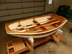 Gordon C. 7 foot rowboat with western red cedar planks and white oak frames 3.jp