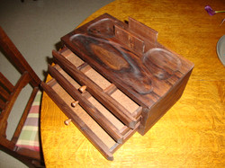 Walnut men's valet box 3566