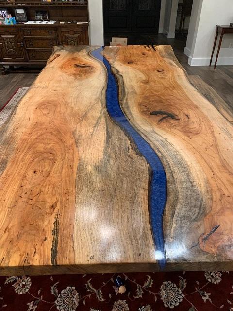 Pecan River Table, D. Almond 3