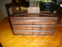 Walnut men's valet box  3568