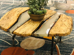 Pecan, spalted.epoxy table