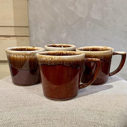 "McCOY""Brown drip glaze"" mug"