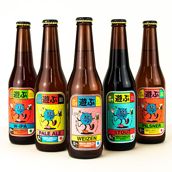 MINOH BEER × P01 REAL PLAY BEER SET12