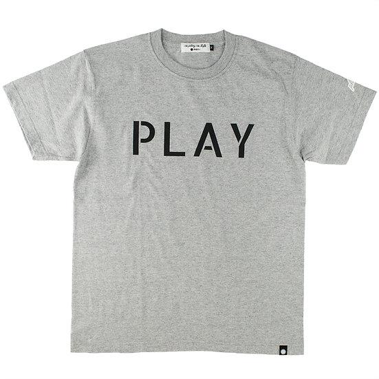 P01 (プレイ) STENCIL PLAY TEE