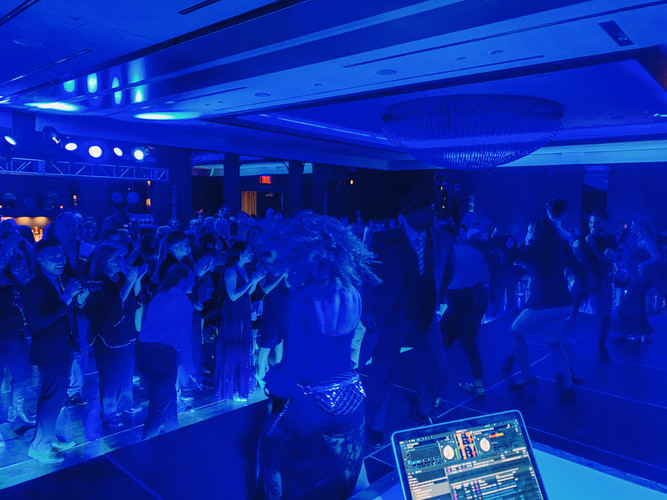 Everyone getting down with the Air Transat Blue at their annual Chritmas Event