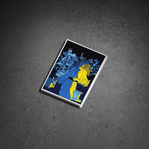 Sticker «Noche Oscura» effet Metallic Gold