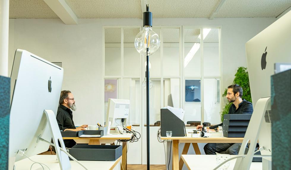 Dani und Florian at work