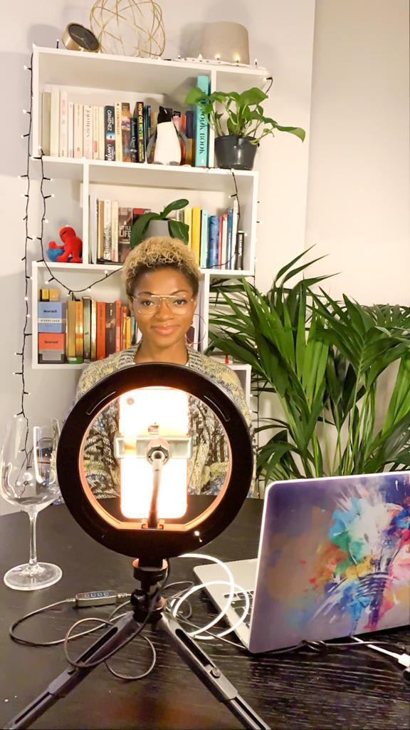 Behind the scences of Outtakes Truth uncut, an Instagram podcast about nomalizing uncomfortable conversations on race, society, gender, and more, with Esther Ajose.