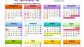 Class Calendar 2020-2021!