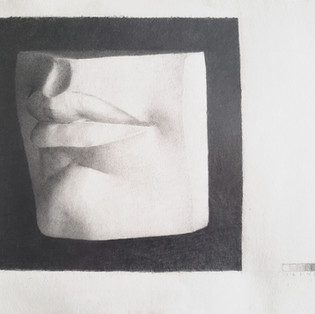 Lips cast drawing