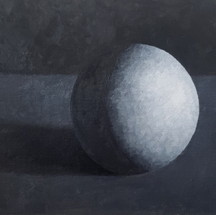 Grisaille sphere painting
