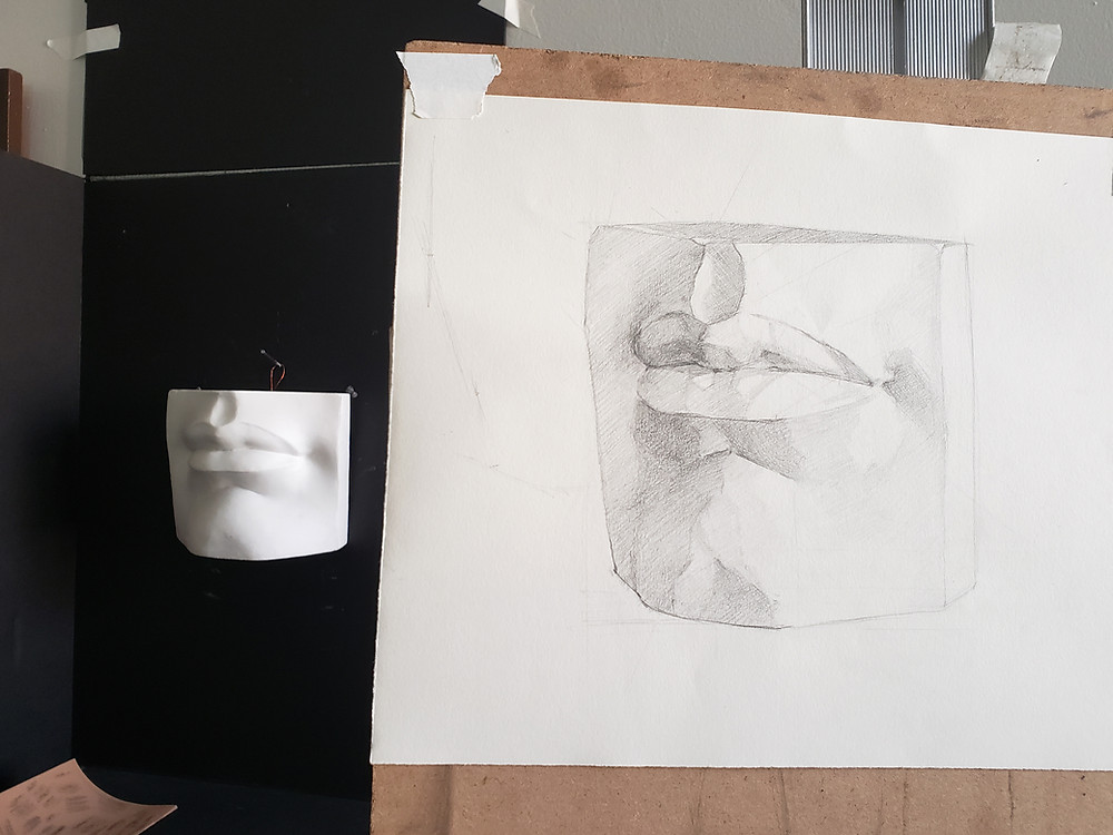 Drawing of lips