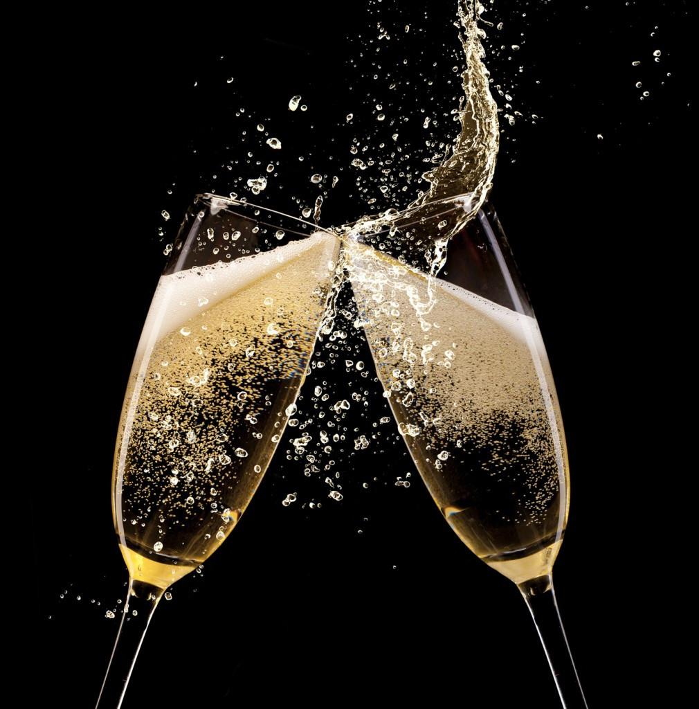 Прикольные, открытка брызги шампанского