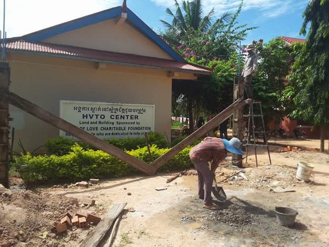 HVTO - School Repair and Fence Construction Project in Progress