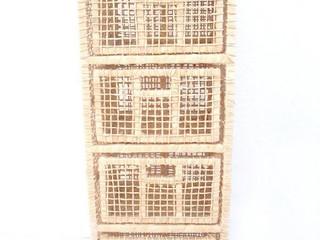 Gaveteiro palha 4 gavetas com encosto